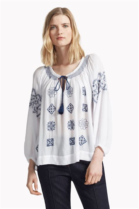 To For Top by Benicassim Broderie Smock Top Tops Great Plains