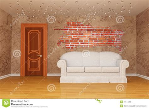 door couch room with door couch and splash hole royalty free stock