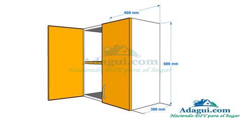 plano  diseno  medidas mueble alto de cocina melamina