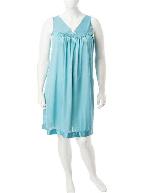Vanity Fair Nightgowns Plus Size by Vanity Fair Plus Size Teal Tricot Nightgown Stage Stores