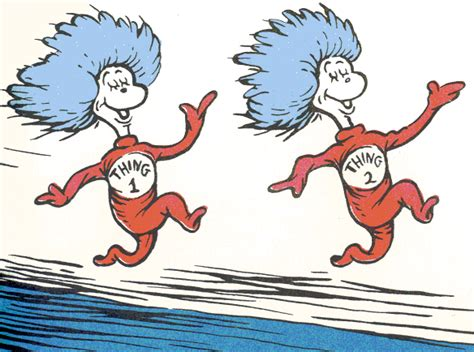 dr seuss hair quotes thing 1 and thing 2 book quotes quotesgram