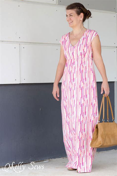 pattern simple maxi dress empire waist maxi dress tutorial with free pattern