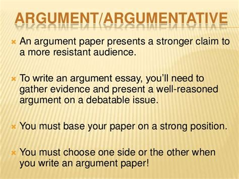 One Sided Argumentative Essay by Everything You Need To When Writing An Essay