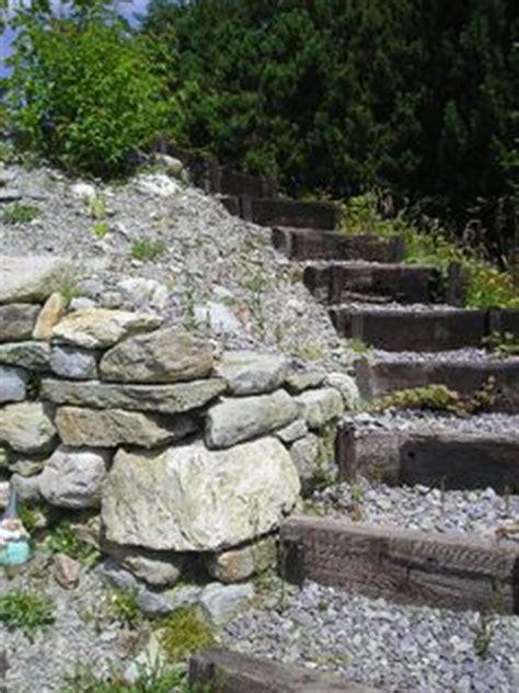 Railway Sleepers Wiltshire by Sleeper Retaining Wall Steps On Railway