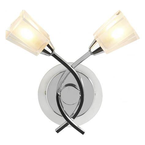 dar dar aus0950 2 light modern wall light clear