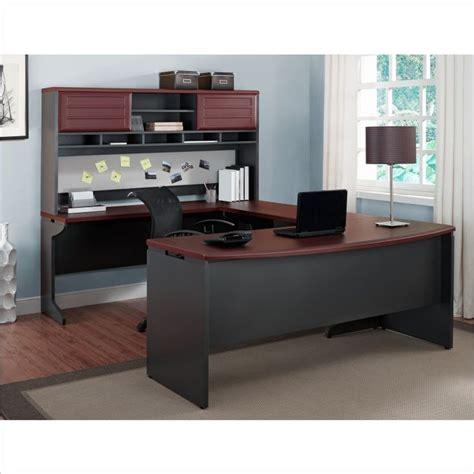 altra pursuit u shaped desk altra furniture pursuit u shape office set in cherry and