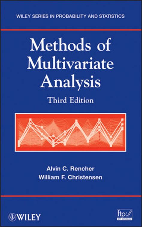 Wiley Methods Of Multivariate Analysis 3rd Edition