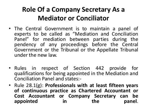 section 205 of the companies act mediation and conciliation and companies acts 2013 nclt