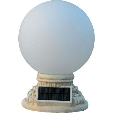 Led Outdoor Globe Lights Homebrite Solar 9 Light Solar White Outdoor Led Globe Entry Light With Frosted Glass 30855 The
