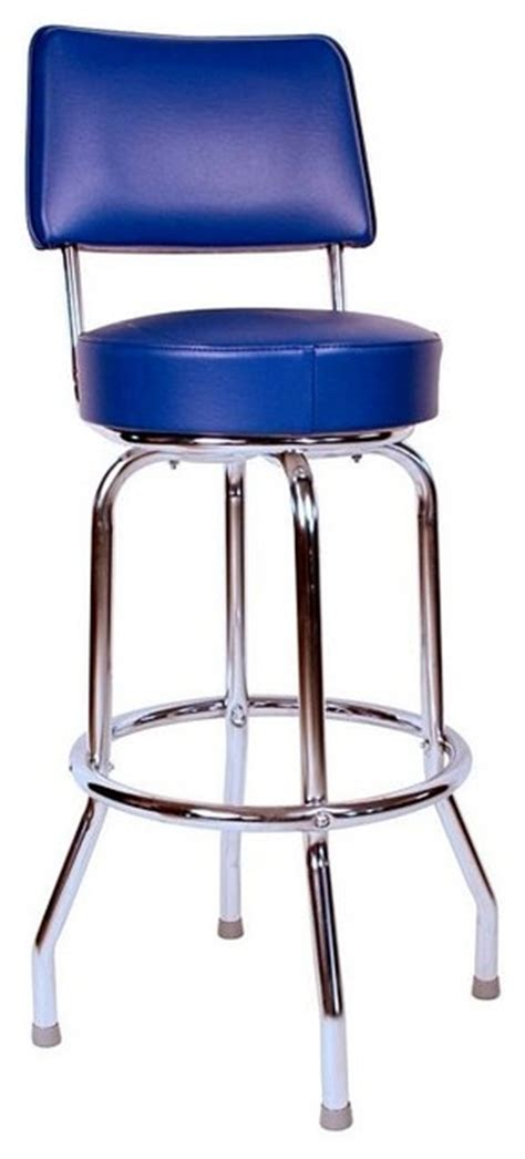 chrome swivel bar stools with back swivel bar stool with back chrome frame blue