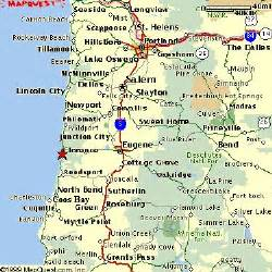 oregon coastal cities map oregon coast map map of oregon showing the location of
