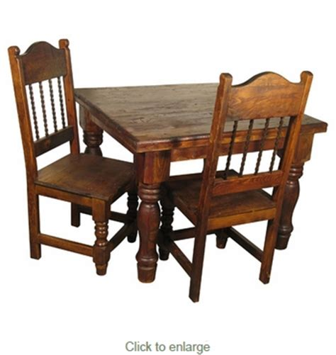 Mexican Country Square Dining Set With 4 Chairs Mexican Dining Chairs