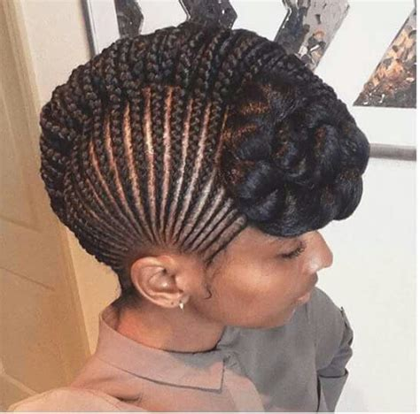 braided frenchroll cornrow french roll natural hair style braids