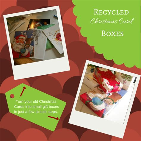 Christmas Gift Card Boxes - recycled christmas card boxes the free range life