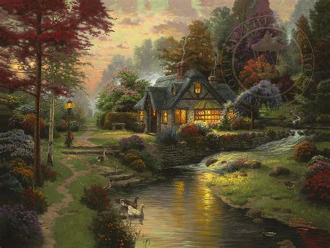 cottage paintings by kinkade stillwater cottage limited edition the