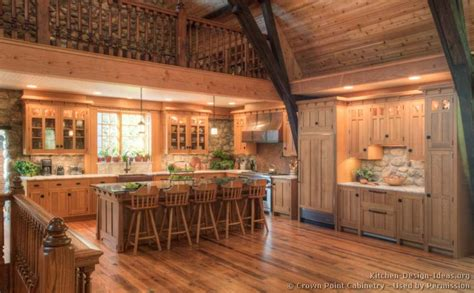 Cabin Open Floor Plans by Log Home Kitchens Pictures Amp Design Ideas