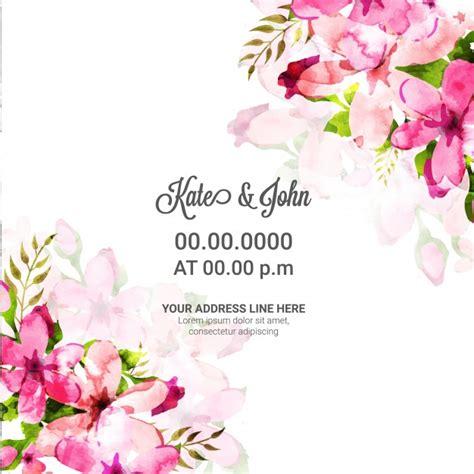 convite de casamento flores em aquarela cart 227 o do convite do casamento flores cor de rosa da