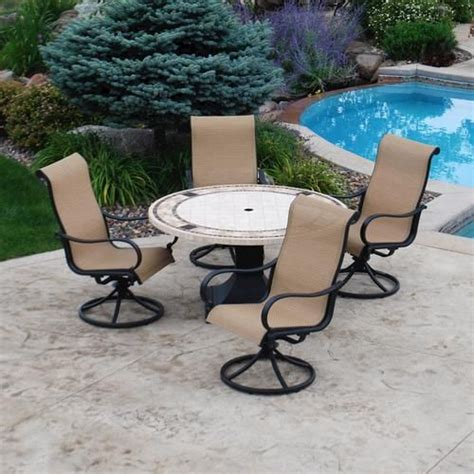 backyard creations 5 belvedere dining collection at