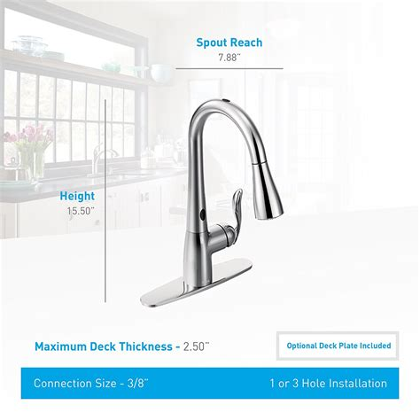 moen motionsense kitchen faucet moen arbor 7594esrs kitchen faucet with motionsense and