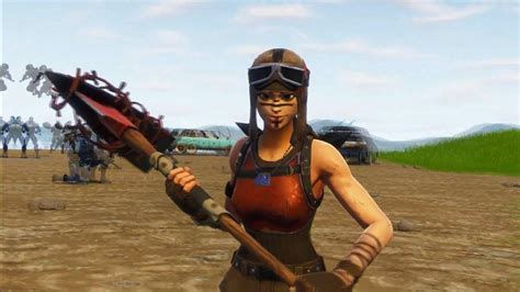 renegade raider fortnite holding pickaxe  trooper hd