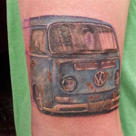 vw bus tattoo volkswagen vw cervan kombi ink