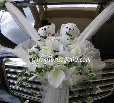Silk Flowers Car Decor  Wedding Car Decoration   Wedding
