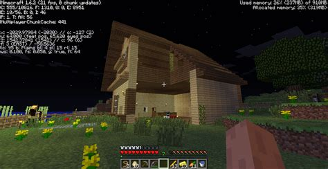 how far away is my house how did part of my house in minecraft disappear arqade