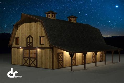 gambrel barn house plans horse barn gambrel 60 floor plans 4 jpg barn ideas pinterest gambrel horse