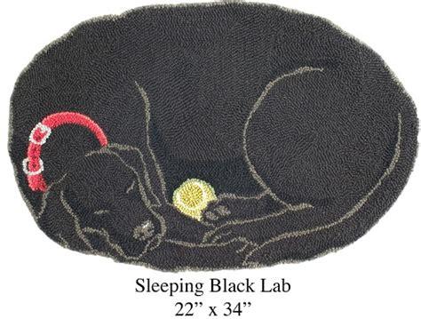 black lab rug sleeping black lab hooked rugs