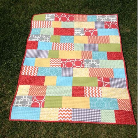 Dimensions Of A Crib Quilt by Bright Bricklayer Crib Size Quilt