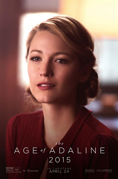 age of adaline posters show immortal blake lively through 8 decades collider