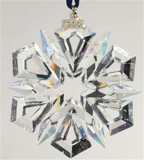 swarovski 1999 crystal snowflake star annual christmas