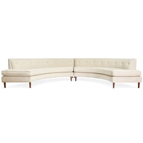 Sectional Curvature by Danner Curved Sectional Modern Furniture Jonathan Adler