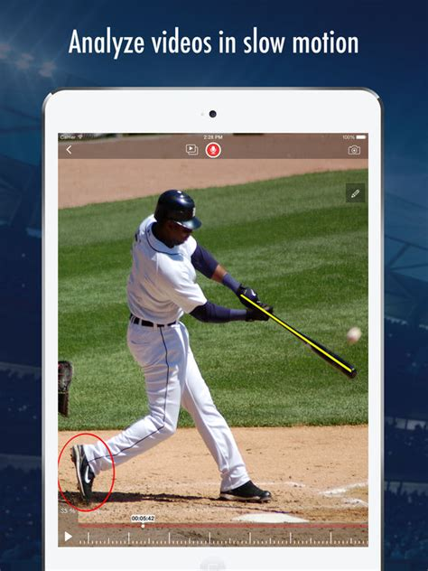 the perfect baseball swing in slow motion slowmo slow motion video analysis on the app store