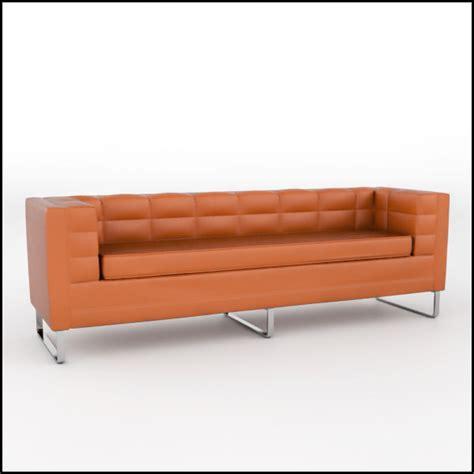 uv leather sofa tufted leather sofa 3d model