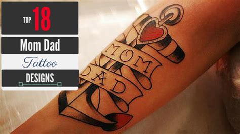 tattoos mom and dad designs ideas at amazingtattooideas for