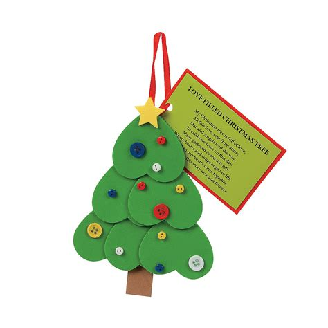 heart christmas tree ornament with poem craft kit oriental trading
