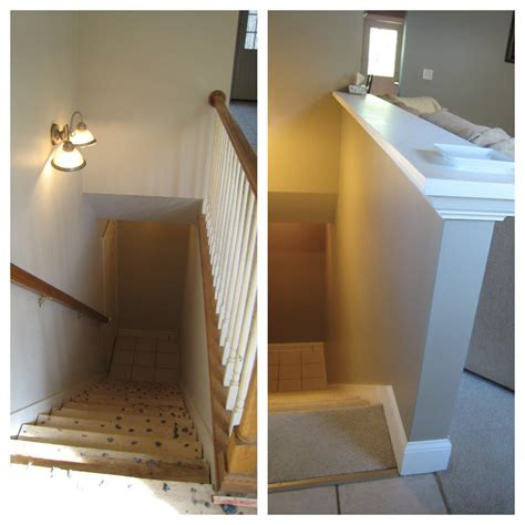 wall banister how to replace a wooden railing with a half wall joy