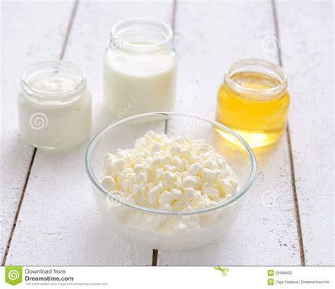 cottage cheese milk honey and sour stock
