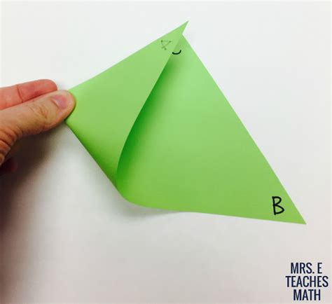 Paper Folding Activities In Mathematics - midsegments in triangles paper folding activity mrs e