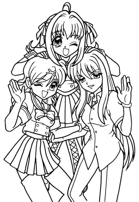 coloring pictures of mermaid melody mermaid melody coloring pages anime pinterest