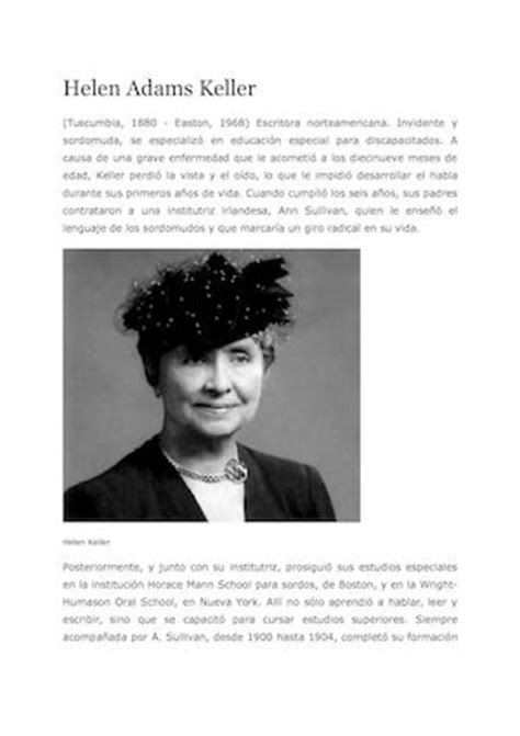 Biografi De Helen Keller | calam 233 o biografia de helen keller