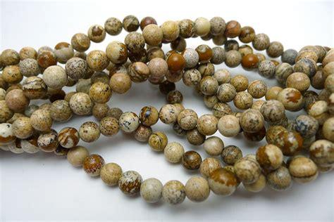 6mm Round Sandstone Jasper Beads
