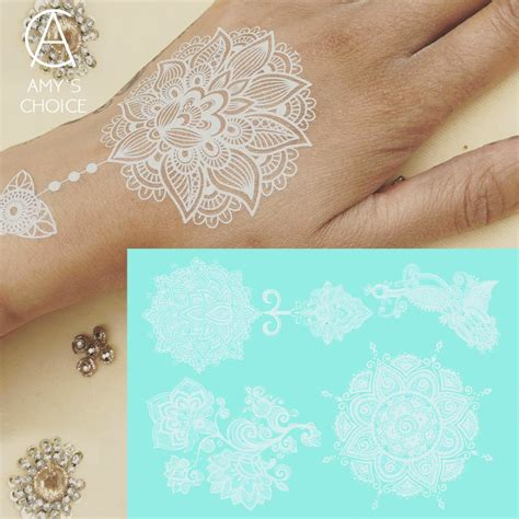 india love henna tattoo aliexpress buy waterproof metallic gold silver white