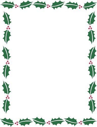 free christmas borders for word documents clipart