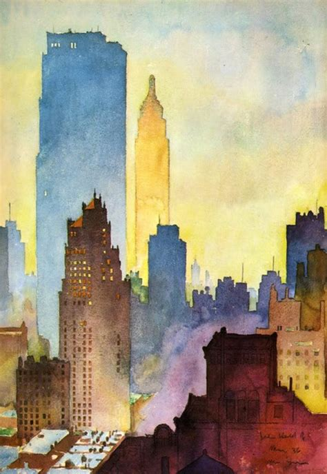 watercolor tutorial city together we think funny city watercolor