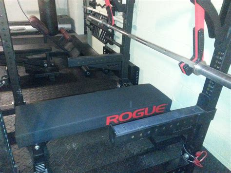 fat bar bench rogue monster utility bench with thompson fat pad modified