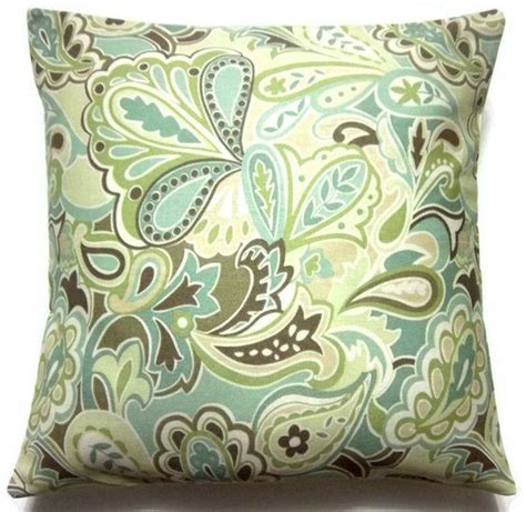 brown green pillows blue green and brown pillow home decor