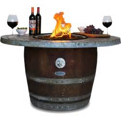 wine barrel fire pit vin de flame reserve wine barrel fire pit