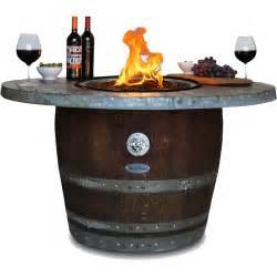 Vin de flame reserve wine barrel fire pit